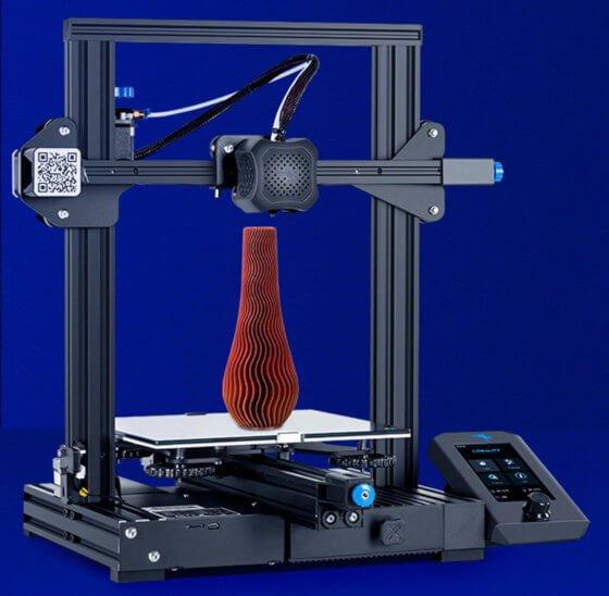 Nueva impresora Ender3 v2 en la foto se ven todas las mejoras actualizaciones.