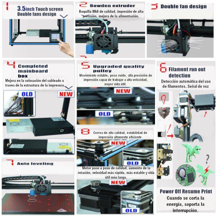 Todas la mejoras y actualizaciones de la impresora 3d tronx y X5SA
